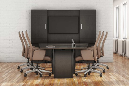 Bravado conference and media wall with Protocol swivel seating