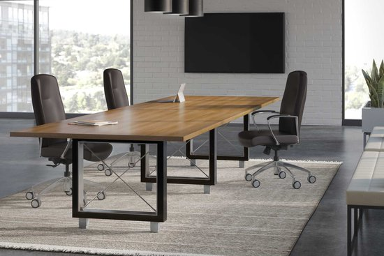 Collective conference table with Garvey R5 swivel seating