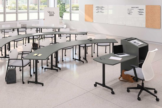 Learning - Lok T-base Training Tables and Instructor's Station with Knox and Proxy seating