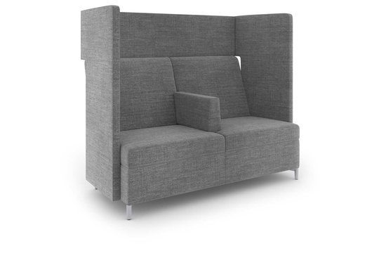 Ziva privacy lounge with intermediate arm